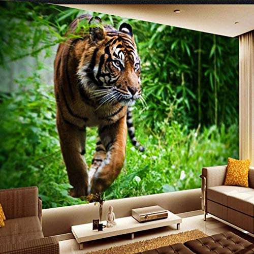 Photo Wallpaper,Tiger Jungle Foraging Mighty King of Beasts Background Large Mural,3D Wall Wallpaper 280 cm (W) x 180 cm (H)