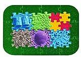 ORTHO PUZZLE Juego de rompecabezas de caminos del bosque – Sensorik estructural para niños, alfombra puzzle para integración sensorial
