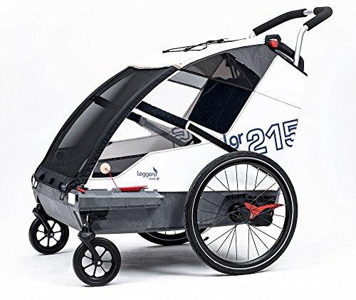 Leggero Vento R Kinderanhänger, Farbe:sail, Ausstattung:Family (Schiebebügel & Buggyset)