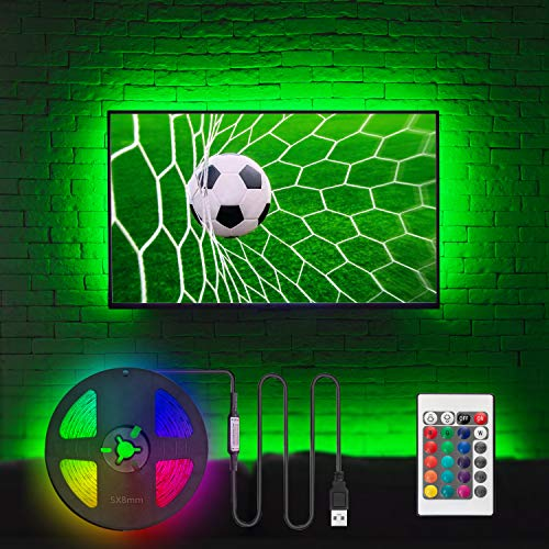 TV LED Backlight for 32 to 60 Inch TV Bias Lighting - 8.2ft USB TV Lights Strip Kit Home Theater Gaming Room Behind TV Wall Mount Ambient Backlighting