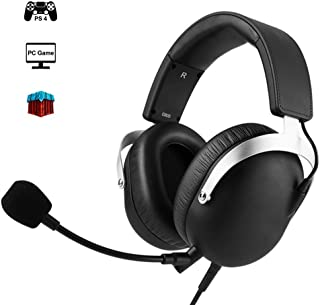 PS4 Gaming Headset with Detachable Microphone, 7.1 Surround Sound Headphone with Three Game Modes,50MM Moving Coil + PET Composite Diaphragm(For PC/PS4/Xbox One/Laptop) MXY (Color : Brown)