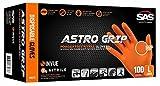 Sas Safety Astro Grip PF Nitrile 6 mil Gloves (100-pk)-XL 66574 by SAS Safety