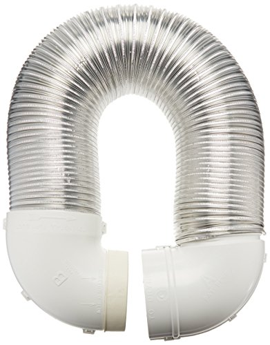 Lambro Industries 4004 Quick Connect Flexible Aluminum Duct Dryer Vent Kit
