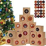 24 Pezzi di Calendario dell'Avvento di Natale Conto alla Rovescia di 24 Giorni per Calendario Natalizio Calendario dell'Avvento a Forma di Albero Decorazioni per Natale Casa