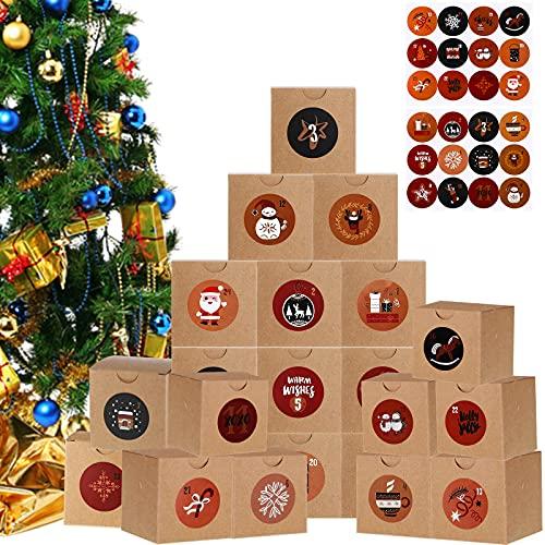 24 Stücke Weihnachten Adventskalender...