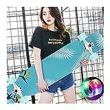 Enjoi Skateboard mit Blinkenden LED-Rollen, Cruiser-Board mit LED...