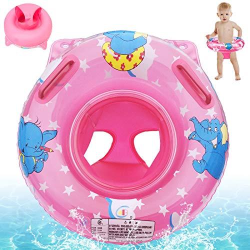 Sunshine smile Baby schwimmring aufblasbarer,Baby schwimmring mit schwimmsitz,babyschwimmen Baby schwimmtrainer,Baby Float schwimmreifen,aufblasbarer schwimmreifen Kleinkind (pink)
