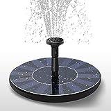 Gohytal - Fuente solar para exterior flotante, mini jardín, bomba solar exterior con 4 boquillas, flotante autoportante para baño de pájaros, jardín, patio, estanque, piscina, exterior, acuario