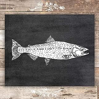 Rainbow Trout Chalkboard Art Print - Unframed - 8x10