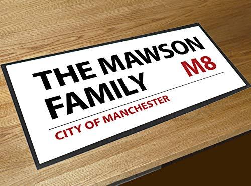 Tapis de comptoir personnalisable avec nom de famille Londres