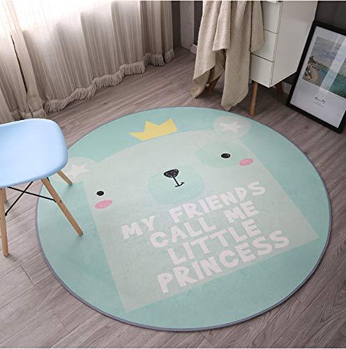 Mianbao Runder Teppich Tier Matte Wohnkultur Zimmer Soft Play Krabbeldecke Cartoon Tier Für Wohnzimmer Schlafzimmer Teppich Dura Ble 120 cm
