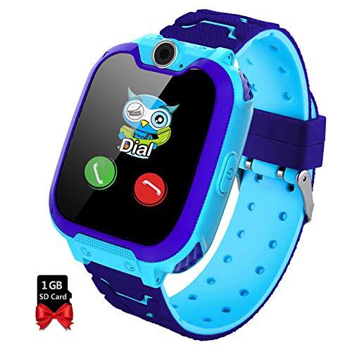 Smartwatch Bambini - Musica MP3 Telecamera Smartwatch Orologio Bambino, Smartwatch Bambini con 7 Giochi Telefono Allarme Registrazione Calcolatrice, Regali per Ragazza Ragazzo con 1G SD Card