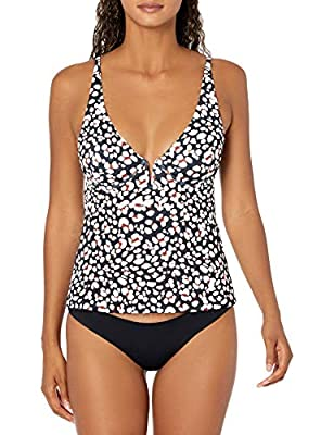 Jessica Simpson Women's Mix & Match Animal Print Swimsuit Separates (Top & Bottom), Underwire Tankini Top, M