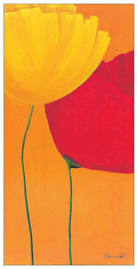 無限大小間ラビリンスArtopweb絵画 Kaminski - More Blumen Part 2 装飾パネル, マルチカラー, サイズ: 50x100 Cm
