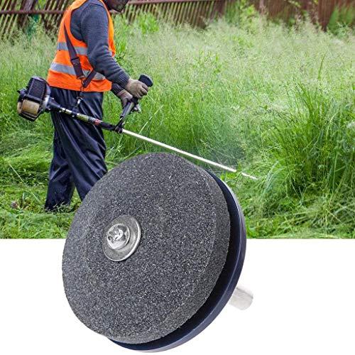 Hergon Afilador de cuchillos eléctrico, universal para cortacésped con taladro giratorio, herramientas de jardín para moler
