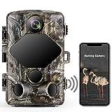 TOGUARD 4K Lite Wildkamera 24MP Wlan Bluetooth Wildkamera mit 46 PCS 850nm Infrarot LEDs 120° Outdoor Wildtierüberwachung Nachtsicht Wildkamera mit Bewegungsmelder Wasserdicht IP66 2,4 'LCD