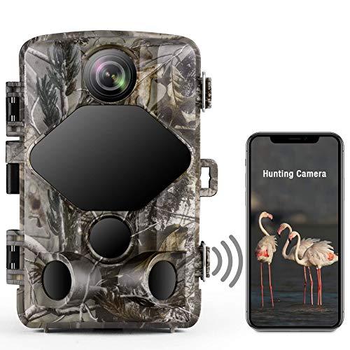 TOGUARD 4K Lite Wildkamera 24MP Wlan Bluetooth Wildkamera mit 46 PCS 850nm Infrarot LEDs 120° Outdoor Wildtierüberwachung Nachtsicht Wildkamera mit Bewegungsmelder Wasserdicht IP66 2,4