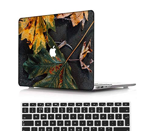 NEWCENT New MacBook Pro 13' Case,Plastic Ultra Slim Light Hard Case UK Keyboard Cover for Mac Pro 13 with/Without Touch Bar 2019 2018 2017 2016 Release(Model:A2159/A1989/A1706/A1708),Flowers A 0210
