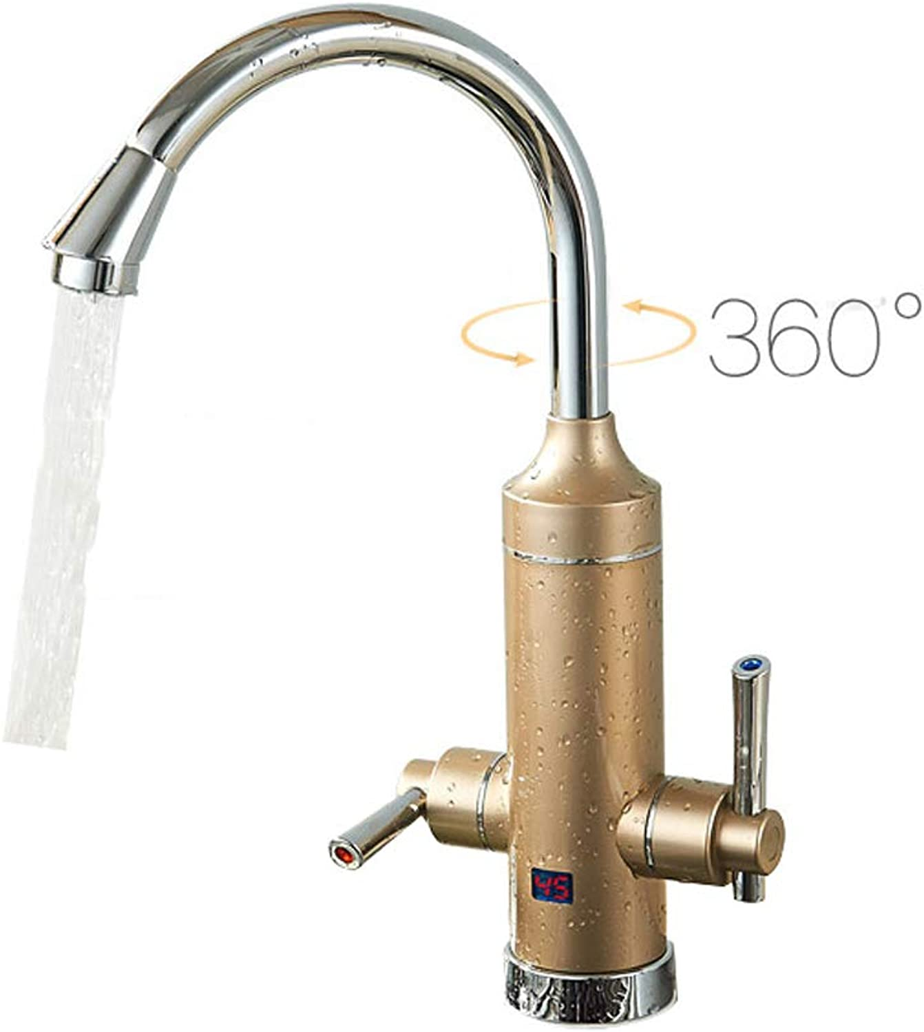 Electric Faucet Tap Water Heating Fast Hot Kitchen Treasure Over Water Hot Household Water Heater (color   gold)