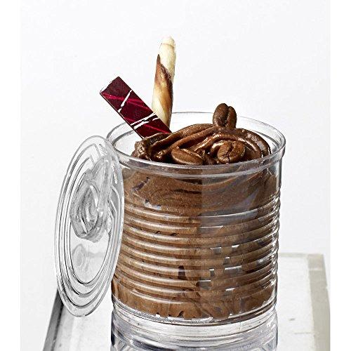 Lote de 25mini vasitos + 25tapas. Capacidad: 60 ml. Cada vaso viene con su tapa.