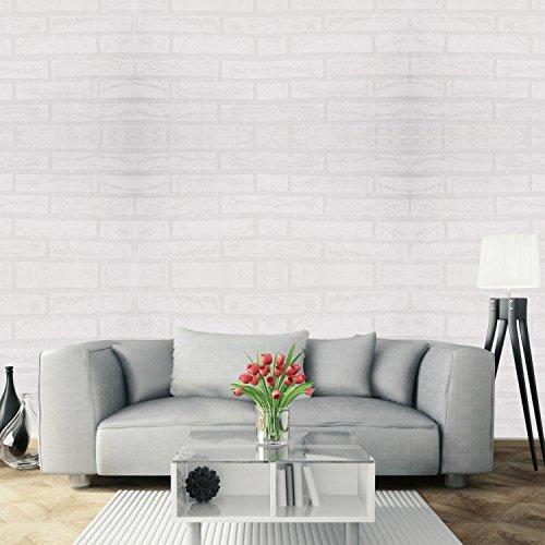 Papel Pintado Papel Pared Autoadhesivo Ladrillo Empapelado Pegatina Mural Paneles Decorativos Wallpaper Extraíble Impermeable Decoración para Hogar Cocina Salón Moderna TV Decor 0,45M*3M…