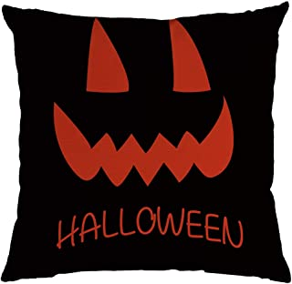 Jocome Throw Pillow Case,4Pc Halloween Pumpkin Ghost Pillow Case Home Decoration 18X18 Inch Home Decorative Super Soft Plush Throw Pillow Cover Cushion Case