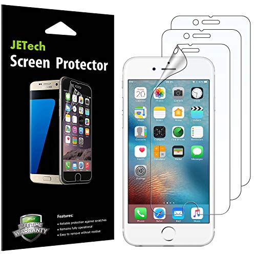 JETech Screen Protector for Apple iPhone 6s and iPhone 6, PET Film, 3-Pack