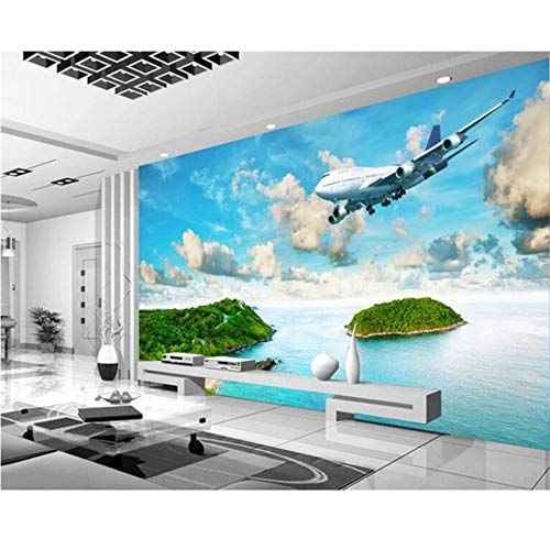 Zjxxm Papel De Parede Forest White HorseWooden Bridge Tv Background Wall Wallpaper Children'S Room 3D Wallpaper-450Cmx300Cm
