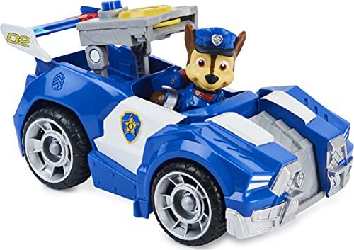 PAW PATROL Chase's Deluxe Movie Transforming Toy Car con Figura de acción Coleccionable, Juguetes para niños a Partir de 3 años