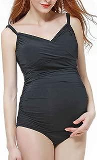 Momo Maternity Bathing Suit UPF 50 One Piece Women's Maternity Swimwear Pregnancy Swimsuit