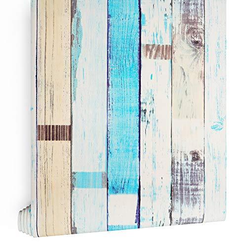 LaCheery Selbstklebende Tapete, dekorative Holzpaneele, 45 x 200 cm, selbstklebendes Kontaktpapier, Vintage-Stil, für Schlafzimmer, Küche, Wände, Schränke und Regale
