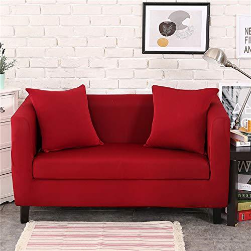 NOBCE Elastic Sofa Cover Modern All-Inclusive Sofa Living Room Elastic Sofa Protective Cover Red Wine 235-300CM