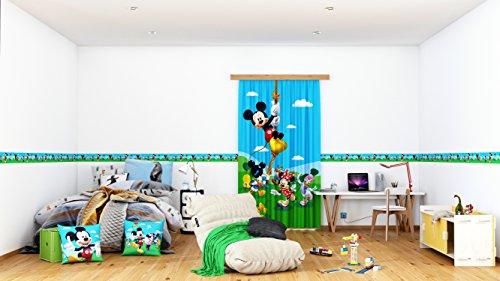 AG Design Disney Mickey Mouse Wand Sticker, Selbstklebende Folie, Mehrfarbig, 500 x 10 cm