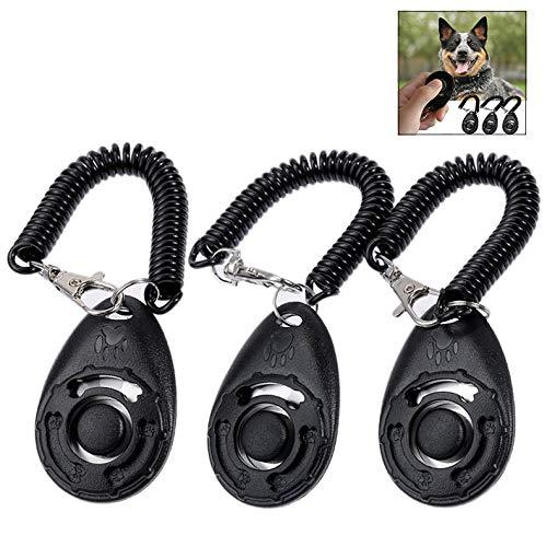 LHKJ Clicker Entrenamiento para Perros Gatos, Profesional Clicker con Spiral Banda Herramientas de Adiestramiento para Mascota
