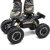 Coches de Control Remoto, Radio inalámbrico de 2,4 GHz, vehículo Todoterreno 4WD para niños, vehículo de Escalada con Buggy Bigfoot RTR de Alta Velocidad con Motores Dobles, CU