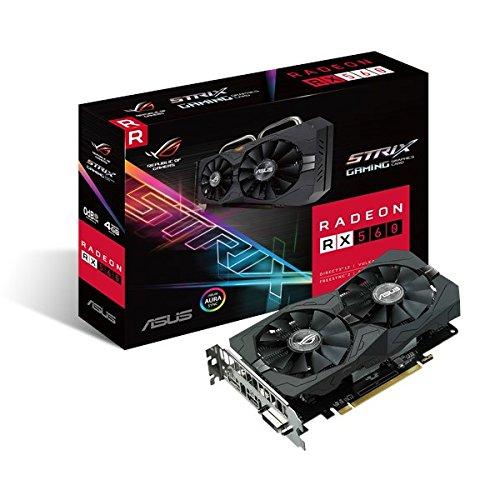 Asus ROG Strix RX560-4G-EVO-Gaming Grafikkarte (AMD Radeon RX560, PCIe, 4GB GDDR5, DVI, HDMI, DisplayPort)