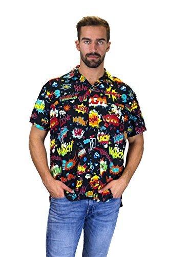 Funky Camisa Hawaiana, BoomBang, multiblack, 2XL