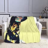 Clint Eastwood Throw Bed Blanket Queen Size Super Soft Fuzzy Plush Warm Cozy Fluffy Microfiber Couch Throw Double Reversible No Shedding Or Pilling Blankets 60'x50'