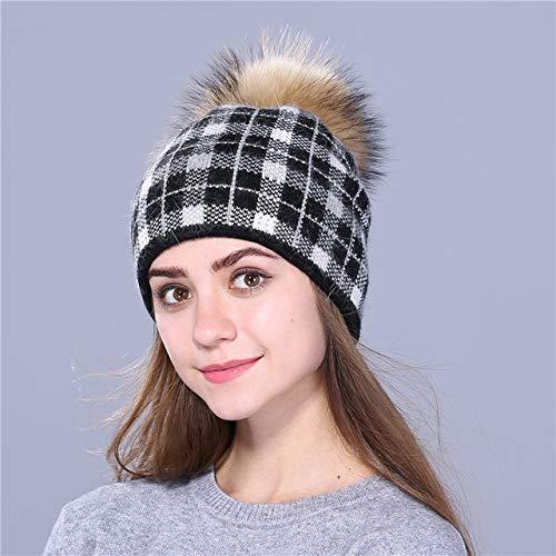 Pompones Sombrero de Punto Skullies Sombrero de Invierno Nias Sombrero de nia Guisantes Sombrero de Nieve de Navidad-Burgundy