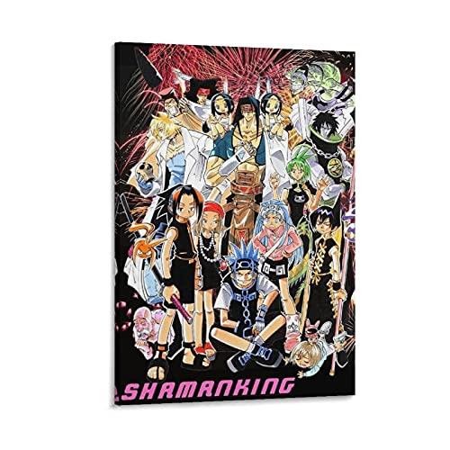 アニメシャーマンキングキャンバスアートポスター寝室装飾絵画家の壁の装飾印刷画像12×18インチ(30×45cm)