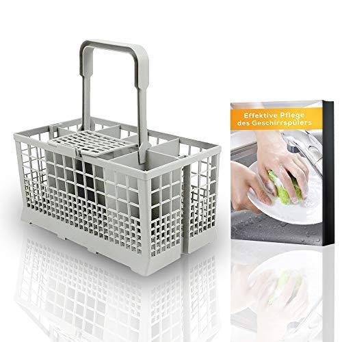 Nestor&Gamble | Universal-Besteckkorb für viele gängige Spülmaschinen + GRATIS E-BOOK | Spülkorb für Geschirrspüler & Spülmaschine mit hitzebeständigem Kunststoff & extra stabilem Griff