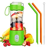 Aitsite Portable Blender, Personal Mixer Fruit Rechargeable USB with 2 Straws, Mini Blender for...