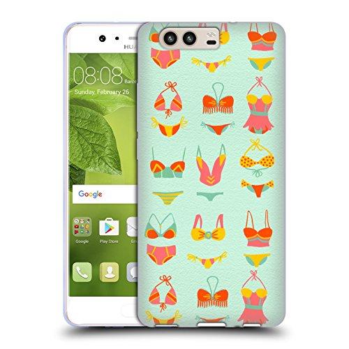 Head Case Designs Oficial Cat Coquillette Bikini Mint Verano Carcasa de Gel de Silicona Compatible con Huawei P10