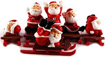 Anniversary House F333 Santa Claus on a Sleigh Cake Toppers-144 Pcs