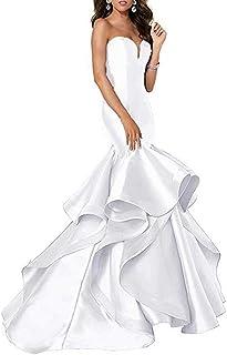 Jonlyc Women's Sweetheart Sexy Prom Dress Mermaid Long Evening Party Dresses