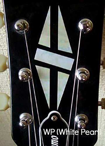 Jockomo Inlay Stickers, Headstock-Diamond Hatch (WS)