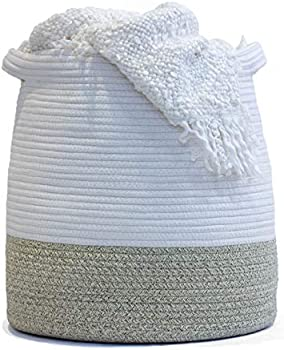 Flicker Moon 17 x 17 Inch Large Woven Rope Basket