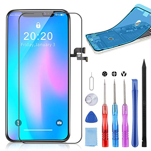 YPLANG LCD Screen Ricambio per iPhone X Display, 3D Touch Screen Digitizer con Kit Completo di...