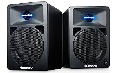Numark N-Wave 360 – Compact 60 W Active Desktop DJ Speakers with Tweeter LED Illumination, Dedicated Volume Control and RCA Inputs from inMusic Europe Limited