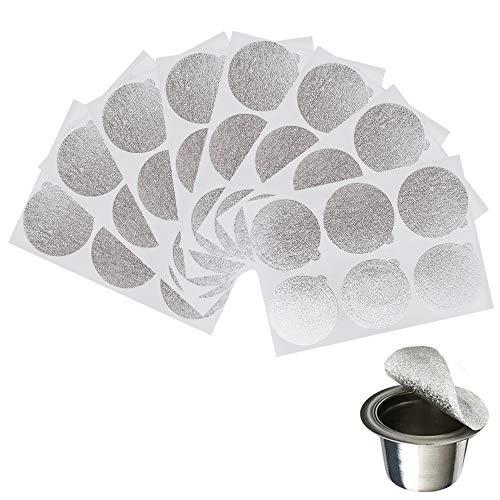 50 piezas Tapas autoadhesivas de papel de café Sellos de aluminio para...